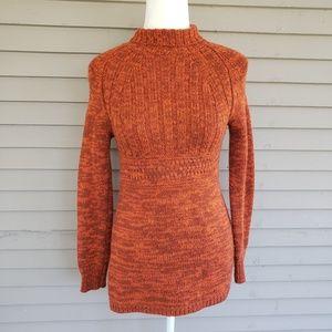 Terra Cotta Orange Knit Sweater Moda International